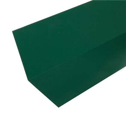 Планка примыкания верхняя с полиэстеровым покрытием 2 м цвет зелёный