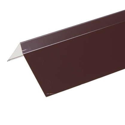 Планка ветровая для мягкой кровли покрытие п/э цвет коричневый