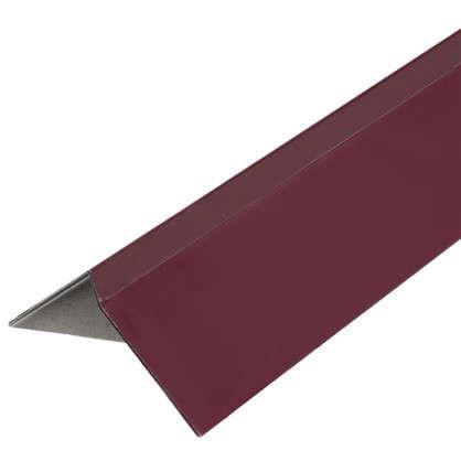 Планка ветровая для мягкой кровли покрытие п/э цвет краcный