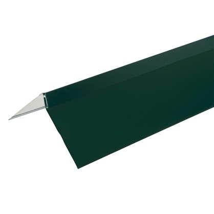 Планка ветровая для мягкой кровли покрытие п/э цвет зелёный