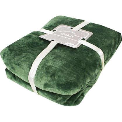 Плед 180х200 см фланель цвет зеленый