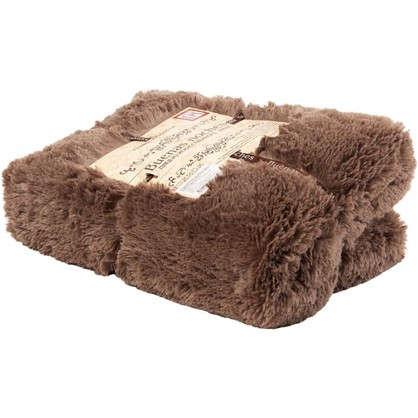 Плед декоративный 200х220 см мех цвет коричневый