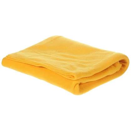 Плед флисовый PICNIC 120х150 см цвет желтый