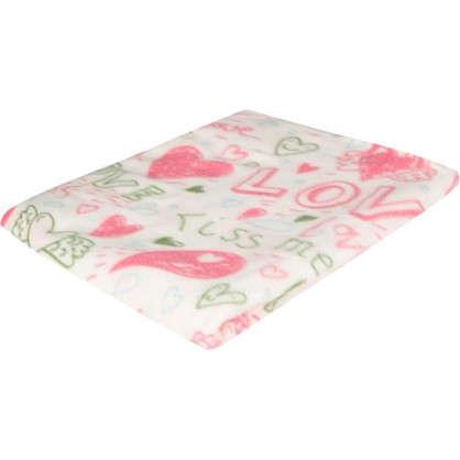 Плед Kiss 130х170 см флис цвет розовый