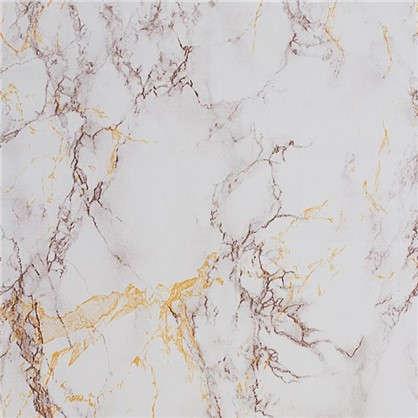 Пленка самоклеящаяся 3960 0.45х2 м мрамор цвет серебристый/бежевый