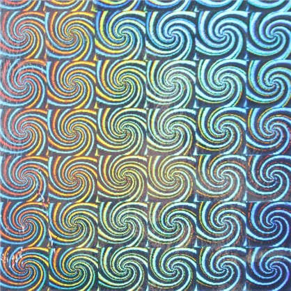 Пленка самоклеящаяся 6019 0.45х2 м голограф цвет серебристый