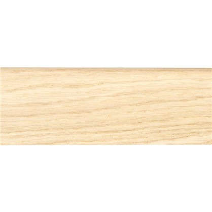 Плинтус напольный шпон 58 мм 2.2 м цвет дуб белый