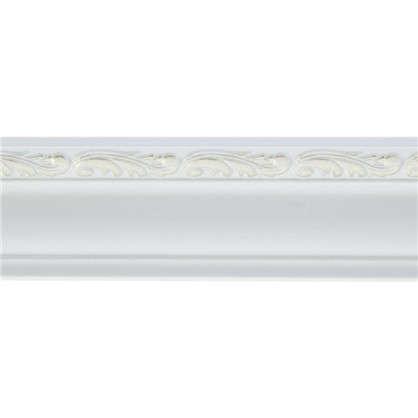 Потолочный плинтус 148B-60 интерьерный 200х4.5 см цвет белый