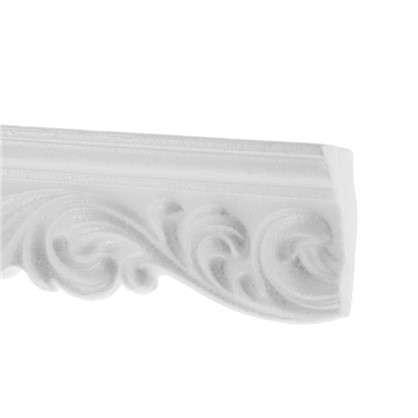 Потолочный плинтус 20006057 200х6 см цвет белый