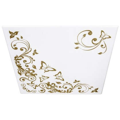 Потолочная плитка экструдированная Гармония 2 м2 50х50 см пенополистирол цвет золотой