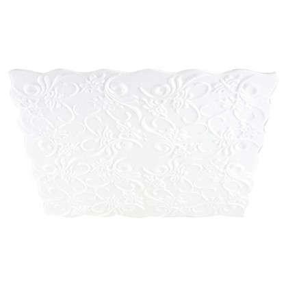 Потолочная плитка инжекционная Нарцисс бесшовная 2 м2 50х50 см пенополистирол цвет белый