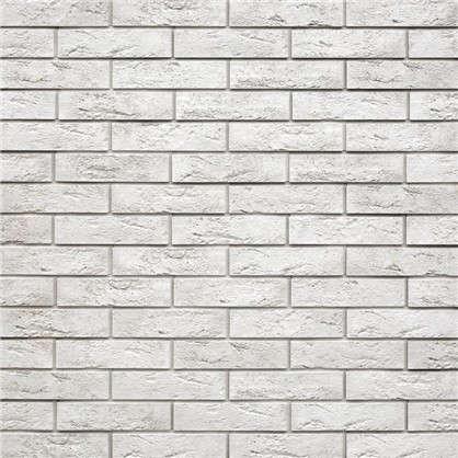 Плитка декоративная гипсовая Лофт Брик цвет белый 1.04 м2