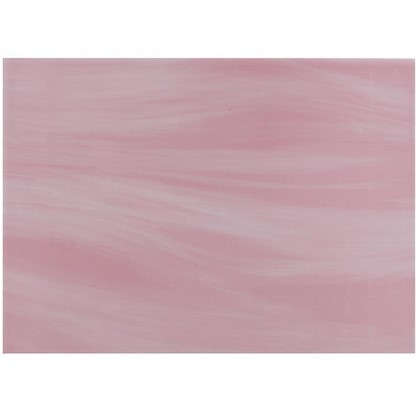 Плитка настенная Агата низ 25х35 см 1.58 м2 цвет розовый