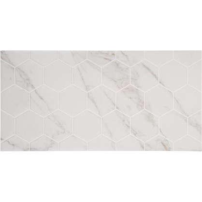 Плитка настенная Marble Гексо 60x30 см 1.62 м2 цвет белый матовый