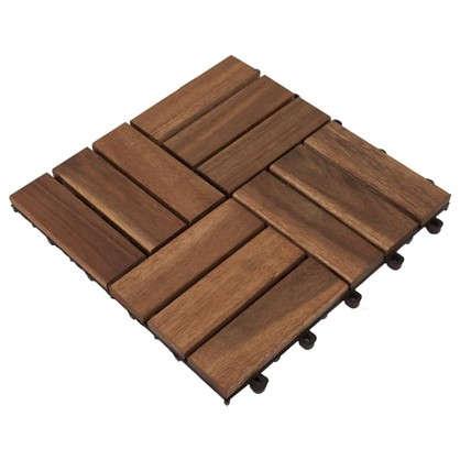 Плитка садовая 30x30x2.4 см акация 12 реек