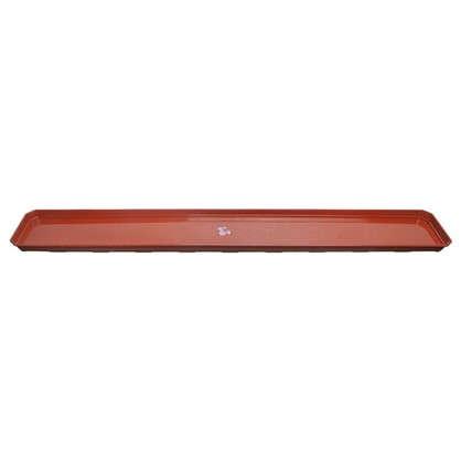 Поддон для балконного ящика 100 см полипропилен цвет терракотовый