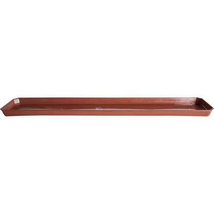 Поддон для балконного ящика 13.8х2.4х40 см полипропилен цвет терракотовый