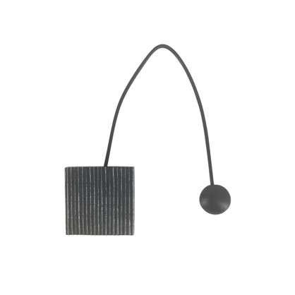 Подхват магнитный Белиса 5.8х34 см цвет черный