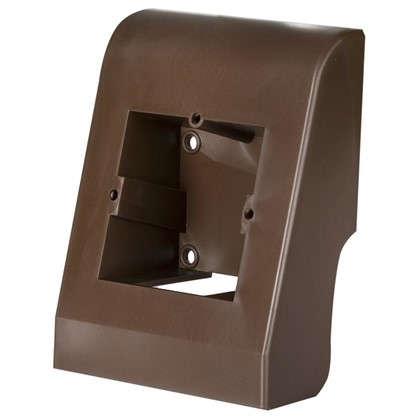 Подрозетник для плинтуса ПВХ 58 мм цвет тёмно-коричневый