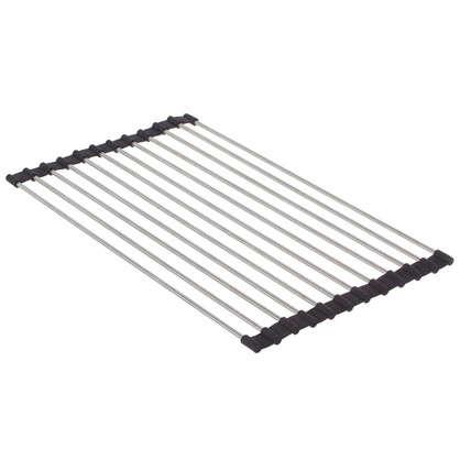 Подставка под горячее/Решетка на мойку Neo 400х240 мм цвет черный хром