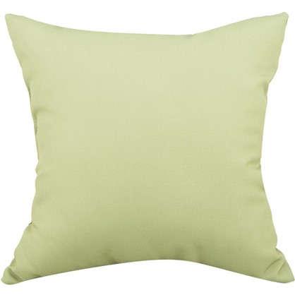 Подушка декоративная 40х40 см текстура рогожка цвет зеленый