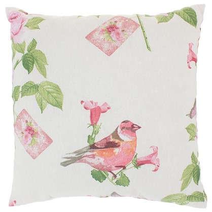 Подушка декоративная Английский сад 40х40 см цвет розовый