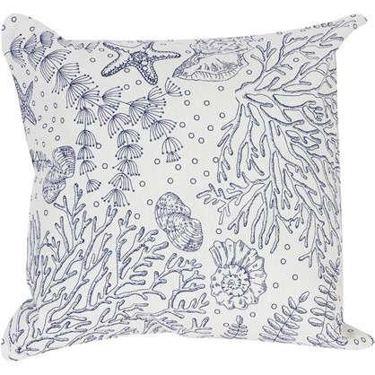 Подушка декоративная Морская фауна 40х40 см