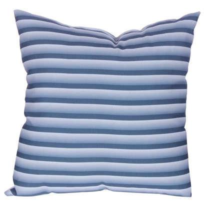 Подушка декоративная Полосы 40х40 см цвет синий