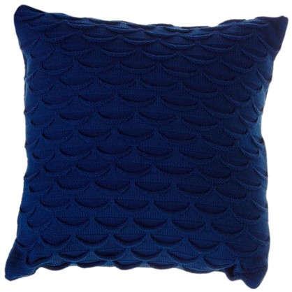 Подушка декоративная вязаная 40х40 см цвет синий