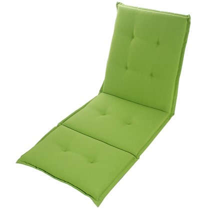 Подушка для шезлонга зеленая 165х65х5 см полиэстер
