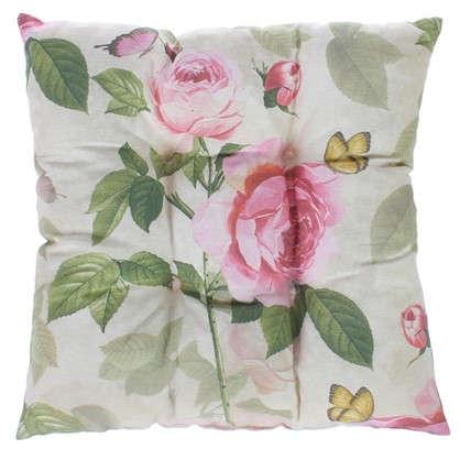Подушка для стула Садовый аромат 40х40 см цвет розовый