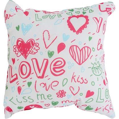 Подушка Love 40х40 см цвет розовый