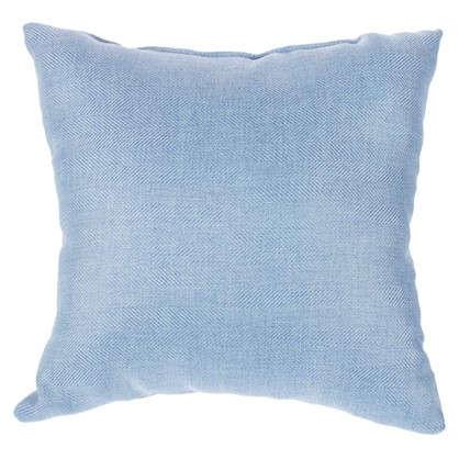 Подушка Лен елочка 40х40 см цвет голубой