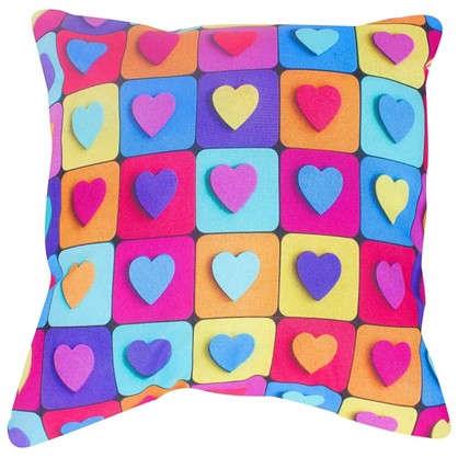 Подушка Мелкие сердечки 40х40 см