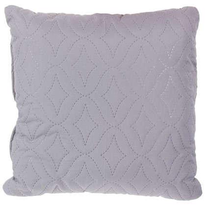 Подушка стеганая Melissa 40х40 см цвет серый