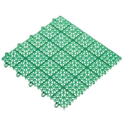 Покрытие садовое из ЭКО-пластика 34х34 см цвет зелёный/терракот 9 шт.