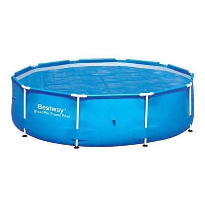 Покрывало для каркасного круглого бассейна 305 см обеспечивает теплоизоляцию в