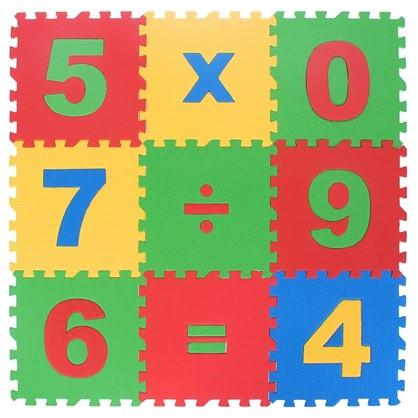 Пол мягкий Математика полипропилен 20х20 см в упаковке 15 шт.