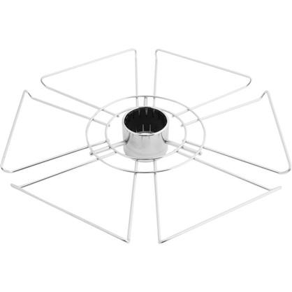 Полка для бокалов 360 мм цвет  хром