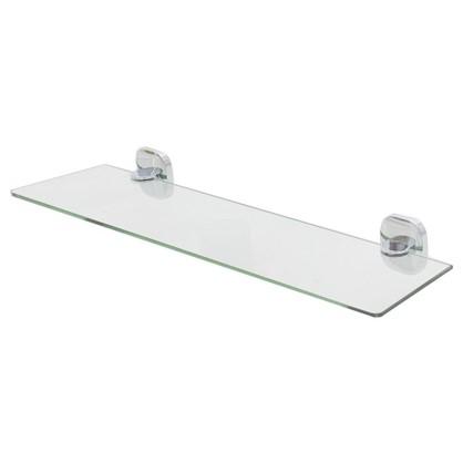 Полка для ванной комнаты Mr Penguin Квадрат без ограничителя 50 см стекло