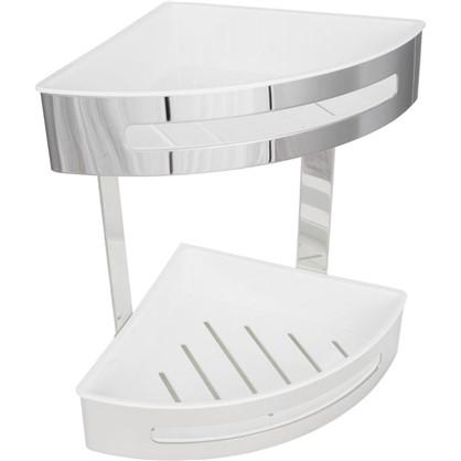 Полка для ванной комнаты Royal двухъярусная угловая 20.6х20.6х29 см сталь