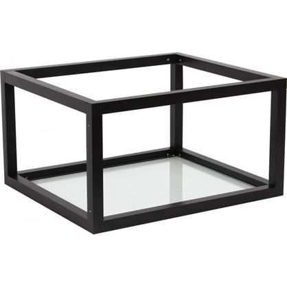 Полка-каркас для стеллажа 22х35х40 см алюминий/стекло