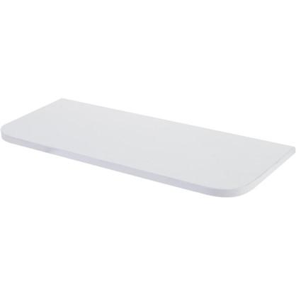 Полка мебельная с закругленными углами 600х250х16 мм ЛДСП белый