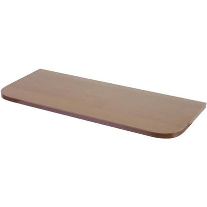 Полка мебельная с закругленными углами 600х250х16 мм ЛДСП цвет орех