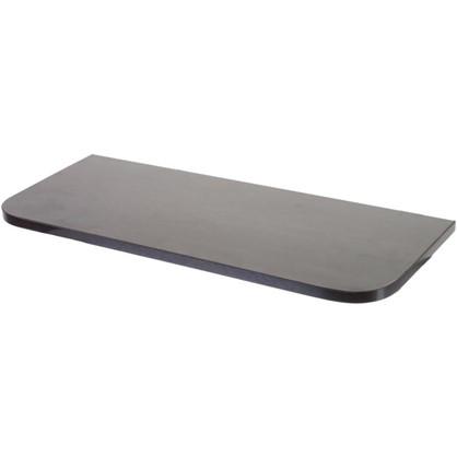 Полка мебельная с закругленными углами 600х250х16 ЛДСП цвет венге