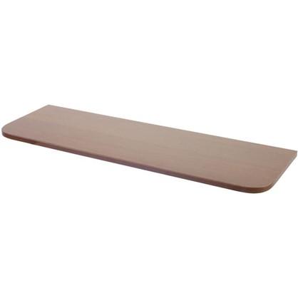Полка мебельная с закругленными углами 800x250x16 мм ЛДСП цвет орех