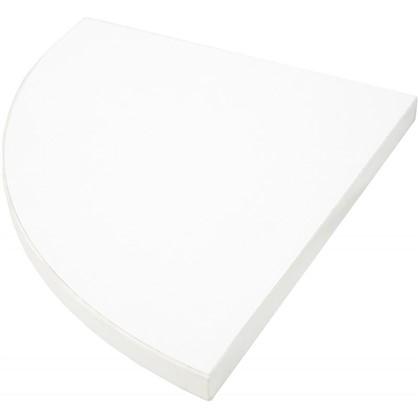 Полка мебельная закругленная секторальная 250x250х16 мм ЛДСП цвет белый премиум