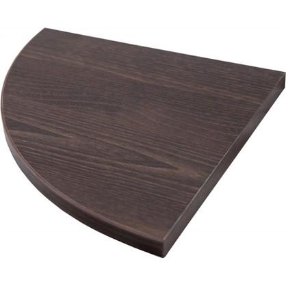 Полка мебельная закругленная секторальная 250x250х16 мм ЛДСП цвет дуб термо темный