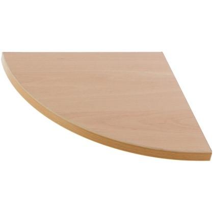 Полка мебельная закругленная секторальная 250x250x16 ЛДСП цвет бук