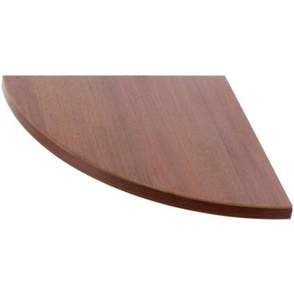 Полка мебельная закругленная секторальная 250x250x16 мм ЛДСП орех